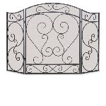 3 Panel Country Scroll Screen-Black