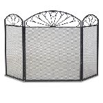 3 Panel Colonial Screen-Black