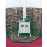 "R-CO Brick 48"" x 48"" Double Cut Stove Board, UL Listed"