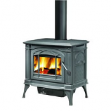 Small Wrought Iron Finish Wood Burning Stove