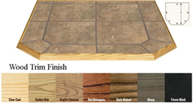 Type II Double Cut 18 Inch x 48 Thermal Protection Hearth Board -Brown