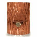 Elements Swirl Glass Votive/Pillar Holder - Amber