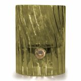 Elements Swirl Glass Votive/Pillar Holder - Palm Green