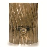 Elements Swirl Glass Votive/Pillar Holder - Sepia Brown