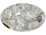 "10 LB Bag of 1/4"" Platinum Reflective Fire Glass"
