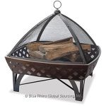 Oil Rubbed Bronze Outdoor Firebowl With Lattice