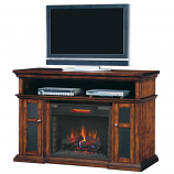 "28"" Pasadena Quartz Heater Media Center, Burnished Walnut"