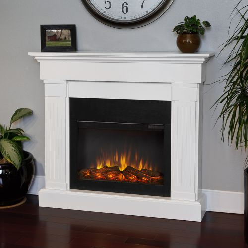 Real Flame Crawford Slim Line| 8020E-W |Built-In Electric Fireplaces