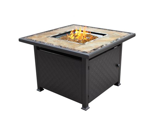 Az Patio Heaters GFT 51030A Square Tile Fire Pit In Bronze