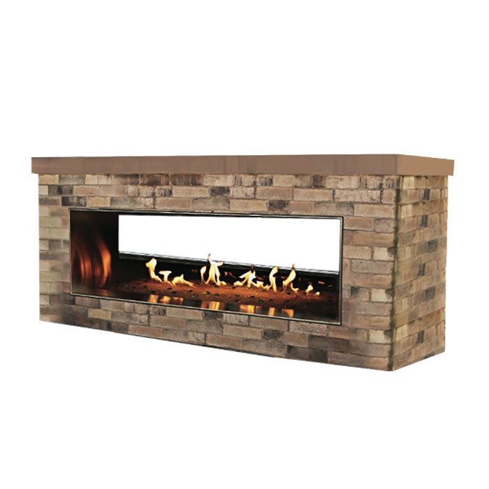 Carol Rose Outdoor Oll48sp12sp Outdoor Gas Fireplace