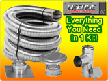 Lifetime 8X30 Single Wall Chimney Liner Kit