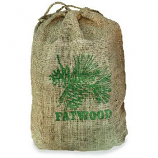 8 Pounds Fatwood In Burlap Sack