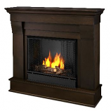 Chateau Dark Walnut Gel Fuel Fireplace