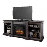 Fresno Dark Walnut Entertainment Unit and Electric Fireplace
