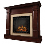 Silverton Dark Mahogany Electric Fireplace