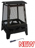 Haywood Fireplace MO-25319 Wildlife Cutouts Fire Pit - Poker Included