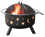 Big Sky - Stars & Moon - Black, Includes Cover And Cooking Grate