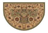 46'' x 31'' Green & Taupe Kashan Hearth Rug