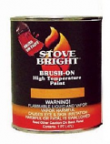 Stove Bright Metallic Black Brush - On 1200 Degree Paint - pint