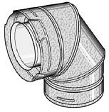 DirectVent Pro 4'' ID - 6 5/8'' OD 90 degree Galvanized Swivel Elbow