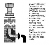 DirectVent Pro 4'' ID with 6 5/8'' OD Masonry Chimney Conversion Kit