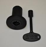 HPC 0.75 Inch Flat Black Angle Decorative Key Valve Kit