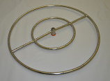 """Stainless Steel Gas Fire Pit Burner Ring - 24"""""""