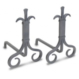 Grand Forge Andirons-Natural Iron
