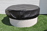 Round Vinyl Covers for Fire Pit Enclosures - Elastic