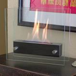 Irradia Noir (Black) Indoor/Outdoor Tabletop Ethanol Fireplace, Black