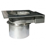 """14"""" Stainless Steel Mechanical Fireplace Damper"""