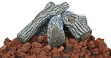 Lava Rock And Log Kit By Uniflame