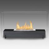 Eco-Feu Vision I Matte Black Bio-Ethanol Freestanding Fireplace