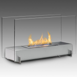 Eco-Feu Vision I Stainless Steel Bio-Ethanol Freestanding Fireplace