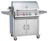 30 Inch 4-Burner Stainless Steel Bull BBQ Outdoor Angus Natural Gas Grill