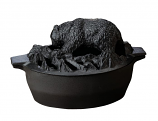 Black Matte Bear Steamer By John Wright Hearth