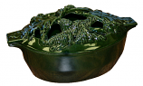 Green Majolica Acorn Steamer By John Wright Hearth