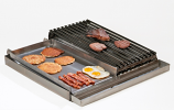Master Chef Lift-Off 4-Burner Stainless Steel - Comb. Griddle/Broiler