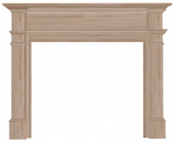 "The Windsor 56"" Fireplace Mantel - Unfinished"