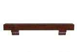 "The Shenandoah 60"" Shelf or Mantel Shelf in Distressed Cherry Rustic"