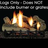 "Canyon 7 Pieces 24"" Ceramic Fiber Log Set- LOGS ONLY"