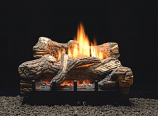 "Thermostat 6-piece 30"" Ceramic Fiber Log Set - Natural Gas"