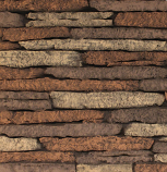 """Ceramic Fiber Liner for 48"""" Deluxe Fireplaces - Stacked Limestone"""