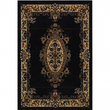 Orian Texture Weave Rugs, Flame Resistant, Medallion Black