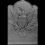 "17"" x 24.75"" Eagle & Shield Fireback"