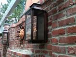 Aspen Medium Copper Wall Mount Lantern by St. James Lighting