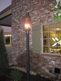 Sarasota Small Copper Post Mount Triple Candelabra Lantern