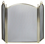 Plated Brass Large Diameter Frame 3-Fold Screen