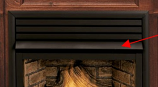 Fireplace Black Hood for Direct Vent Gas - 36""