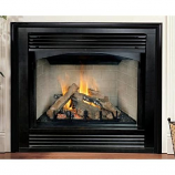 "Brick Liner 32"" Natural Gas Electronic Stamped Louver Fireplace"